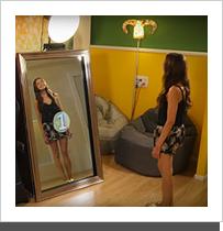 Borne miroir interactif for Miroir interactif