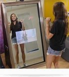 miroir interactif et tactile pour se prendre en photo