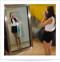 Borne miroir interactif for Miroir interactif